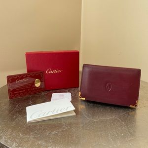 ***SOLD*** Cartier leather wallet